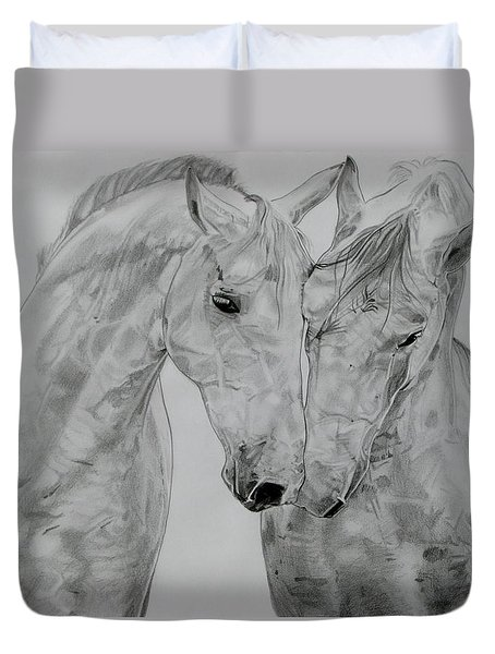 All You Need Is Love Duvet Cover by Melita Safran