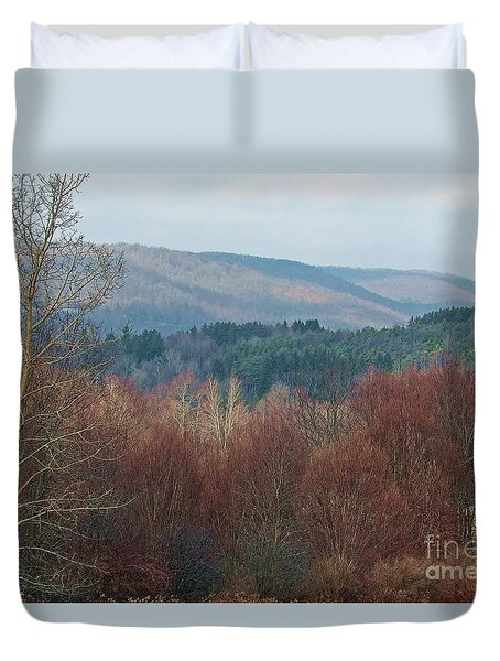 Duvet Cover featuring the photograph Allegany Rhapsody by Christian Mattison