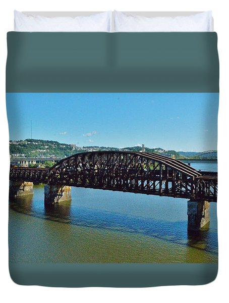 Allegheny Crossing Duvet Cover by William Bartholomew