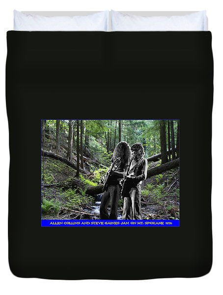 Duvet Cover featuring the photograph Allen And Steve On Mt. Spokane by Ben Upham