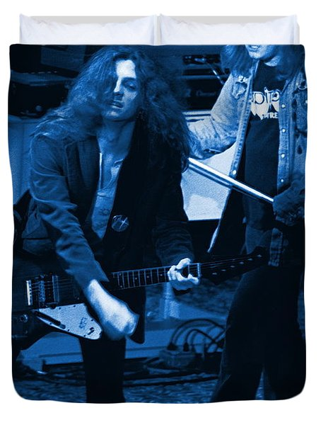 Allen Collins And Ronnie Van Zant Same Old Winterland Blues Duvet Cover