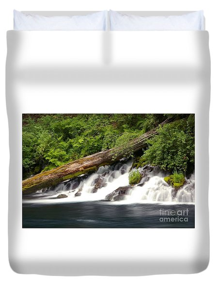 Allen Springs On The Metolius River Duvet Cover