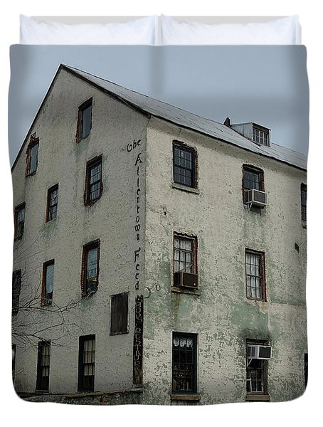 Duvet Cover featuring the photograph Allentown Gristmill by Steven Richman