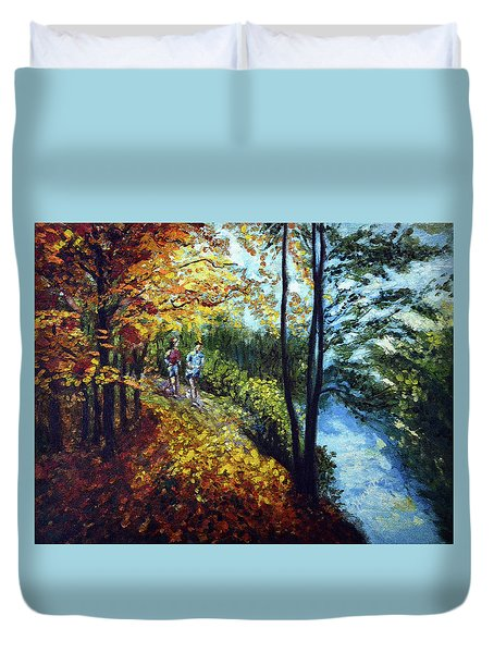 Alley By The Lake 1 Duvet Cover