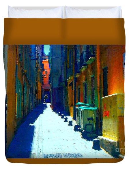 Alley Homme De Perpignan Duvet Cover