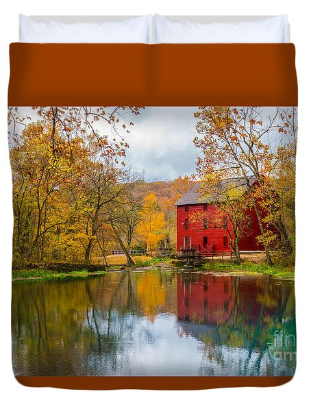 Alley Mill And Spring Duvet Cover