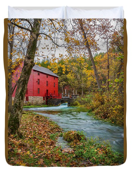 Alley Mill In Autumn Duvet Cover