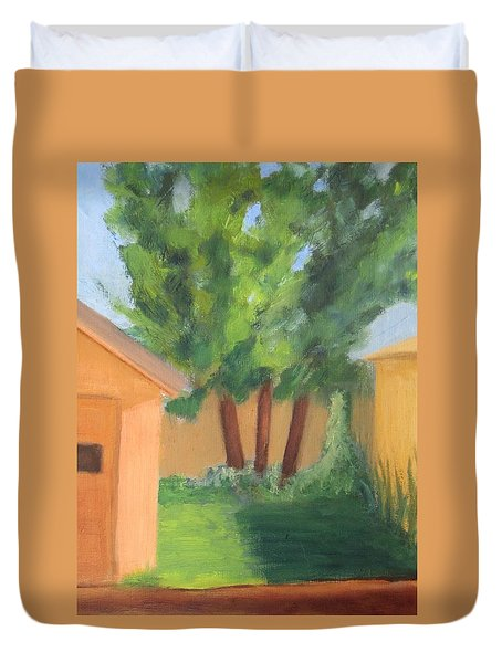 Duvet Cover featuring the painting Alley  by Patricia Cleasby