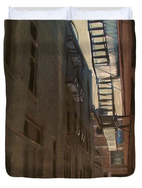 Alley Series 5 Duvet Cover by Anita Burgermeister