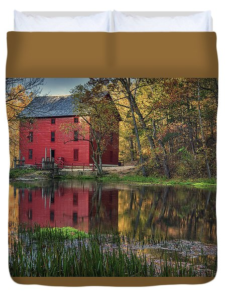 Alley Spring Mill Fall Mo Dsc09240 Duvet Cover