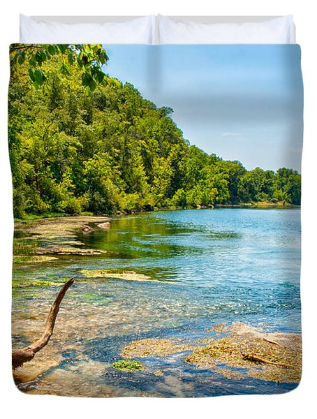 Duvet Cover featuring the photograph Alley Springs Scenic Bend by John M Bailey