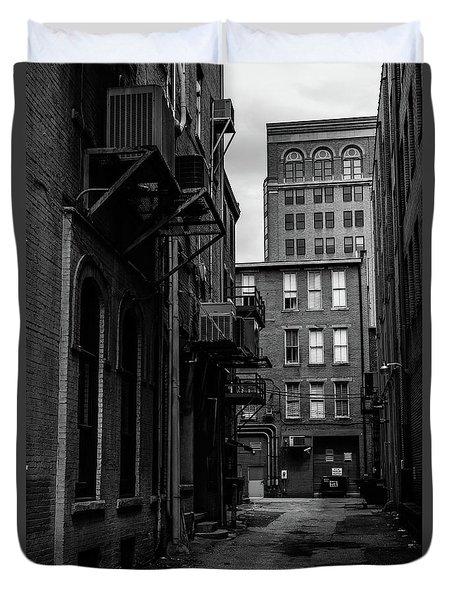 Duvet Cover featuring the photograph Alleyway I by Break The Silhouette