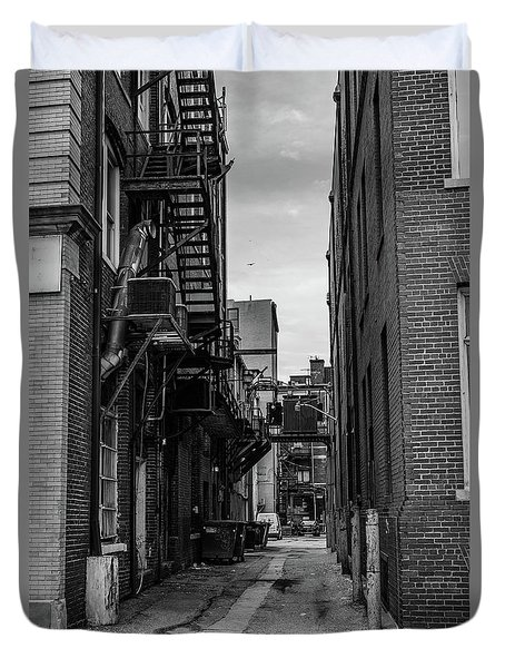 Duvet Cover featuring the photograph Alleyway II by Break The Silhouette