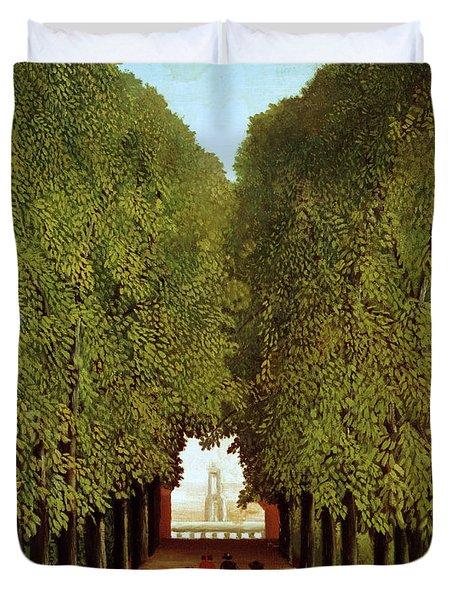 Alleyway In The Park Duvet Cover