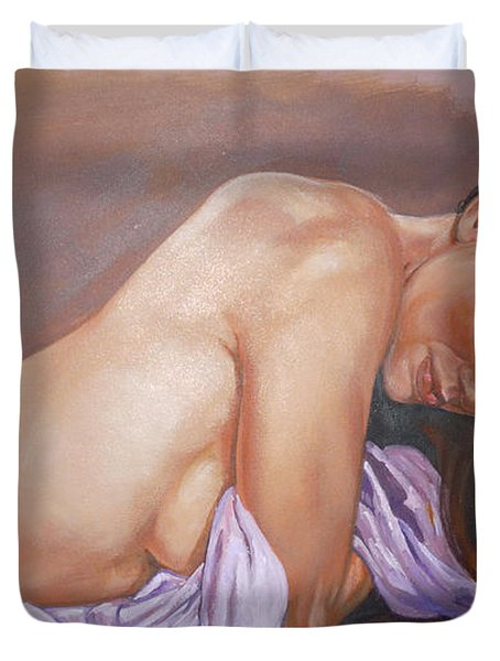 Allison Duvet Cover by Bryan Bustard