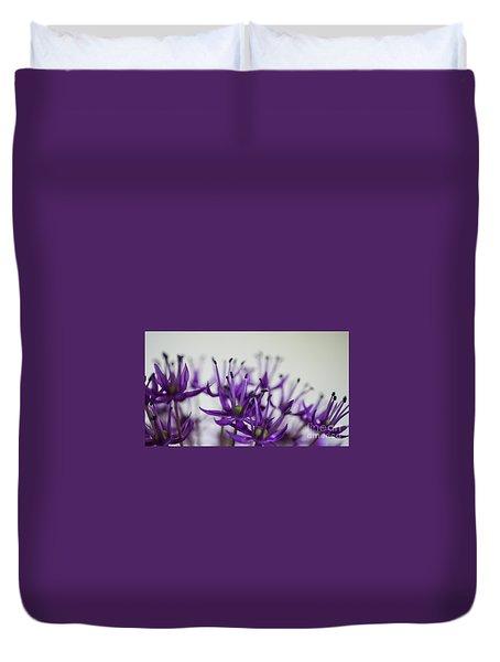 Allium Aflatunense Sideview Duvet Cover