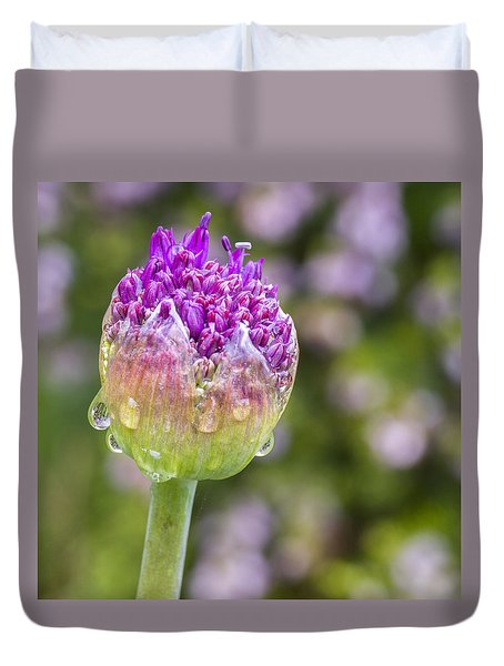 Allium Bud  Duvet Cover