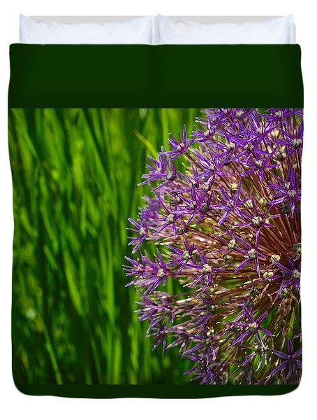 Allium Explosion Duvet Cover