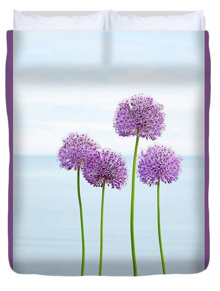 Alliums 2 Duvet Cover