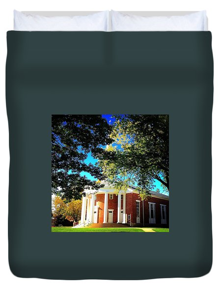 Alma College Dunning Memorial Chapel Duvet Cover
