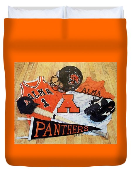 Alma High School Athletics Duvet Cover
