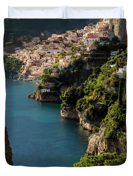 Duvet Cover featuring the photograph Almalfi Coast by Brian Jannsen