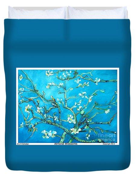 Almond Blossom Duvet Cover by Eric  Schiabor