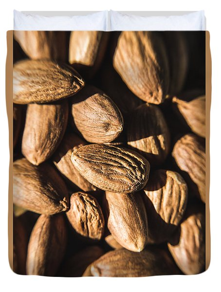 Duvet Cover featuring the photograph Almond Nuts by Jorgo Photography - Wall Art Gallery