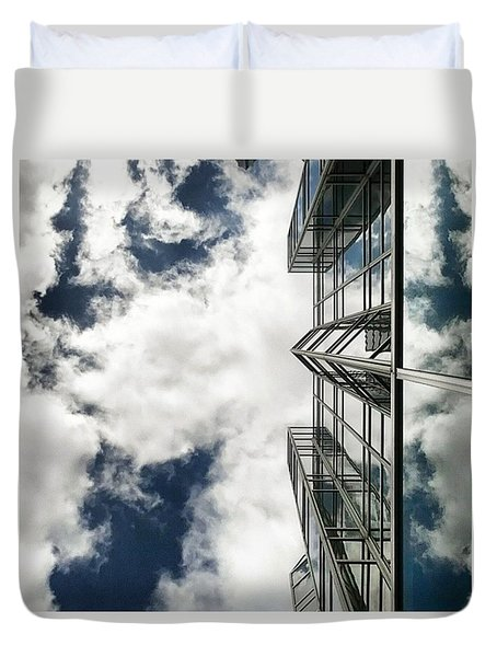 Urban Cloudscape Duvet Cover