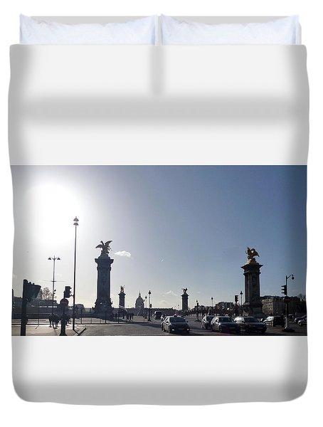 Almost Night In Paris Duvet Cover