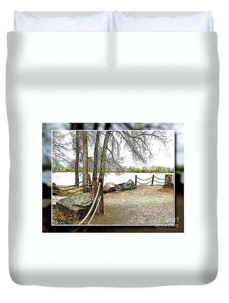 Almost Spring At Lafayette Lake Duvet Cover