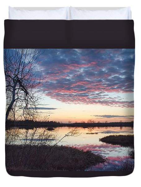 Almost Spring Sunset Duvet Cover