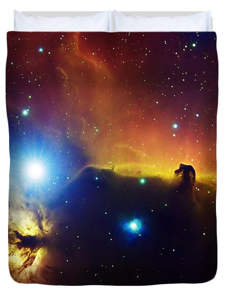 Alnitak Region In Orion Flame Nebula Duvet Cover