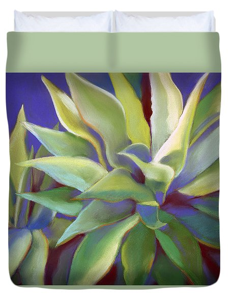 Aloe Plants In Big Sur Duvet Cover