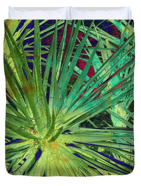 Aloe Vera Plant Duvet Cover by Susanne Van Hulst