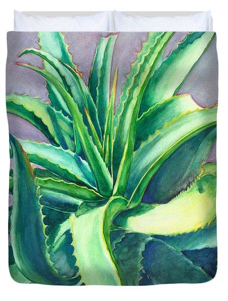 Aloe Vera Watercolor Duvet Cover
