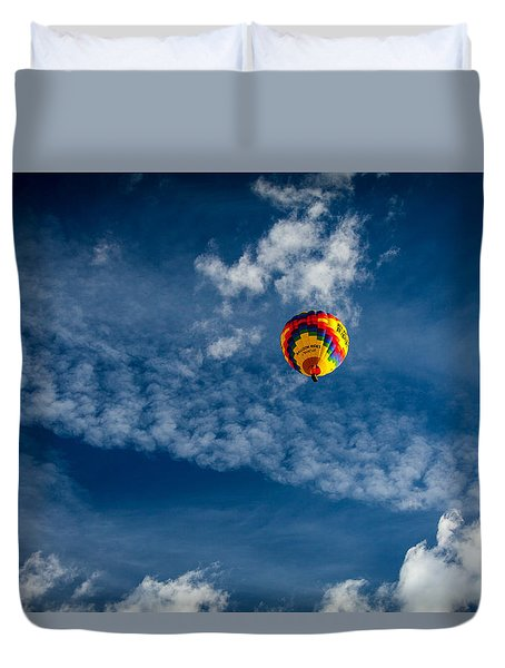 Duvet Cover featuring the photograph Aloft by Ross Henton