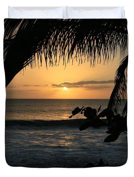 Aloha Aina The Beloved Land - Sunset Kamaole Beach Kihei Maui Hawaii Duvet Cover
