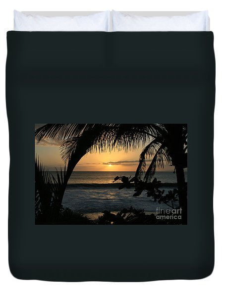 Aloha Aina The Beloved Land - Sunset Kamaole Beach Kihei Maui Hawaii Duvet Cover