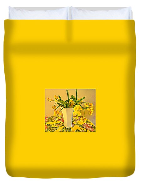 Aloha Bouquet Of The Day - Yellow Wild Flowers Duvet Cover