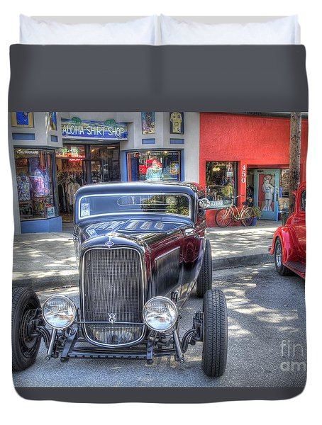 Aloha Cars And Pinups Duvet Cover