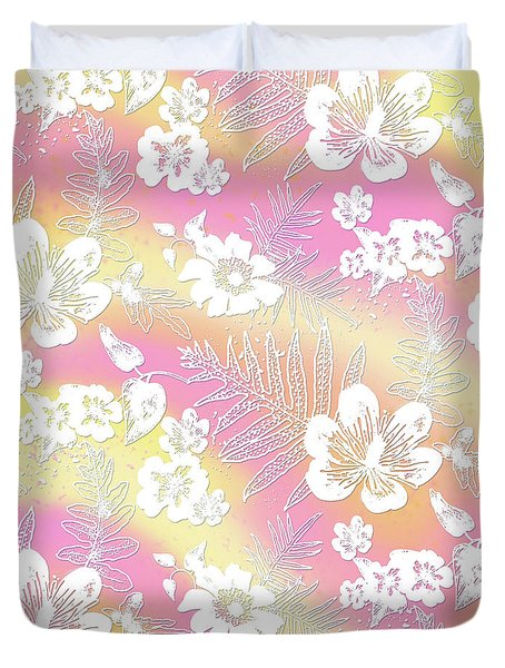 Aloha Lace Passion Guava Sorbet Duvet Cover