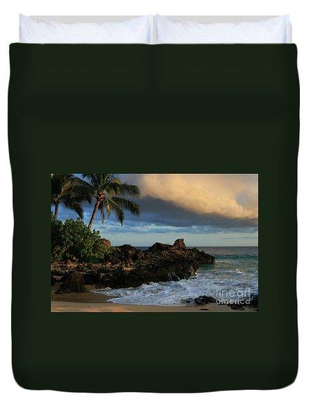 Aloha Naau Sunset Paako Beach Honuaula Makena Maui Hawaii Duvet Cover