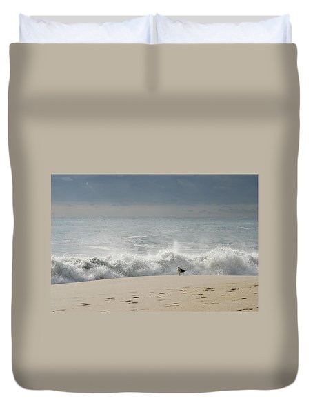 Alone - Jersey Shore Duvet Cover