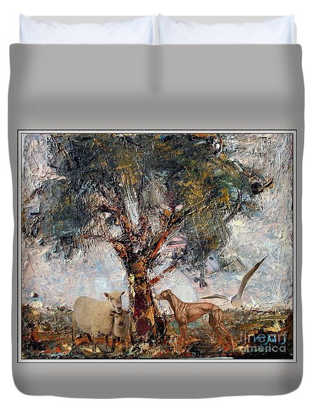 Alone Against Storms 5 Duvet Cover