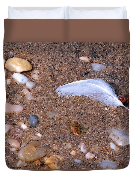 Duvet Cover featuring the photograph Alone Among Strangers by Lynda Lehmann