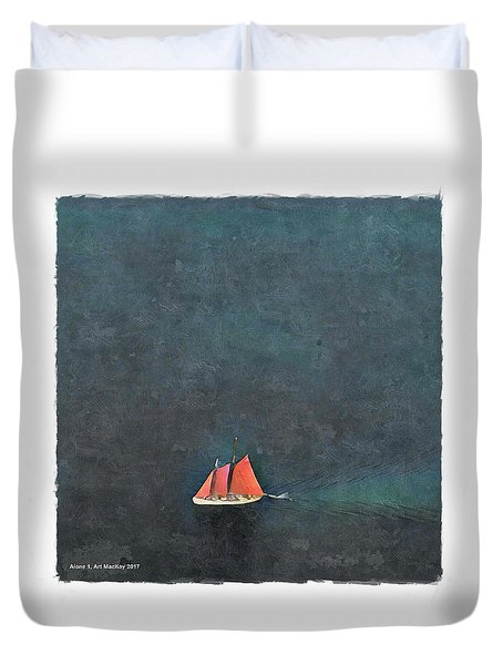 Alone Duvet Cover