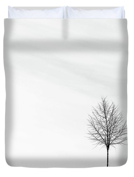 Alone In The Storm Duvet Cover
