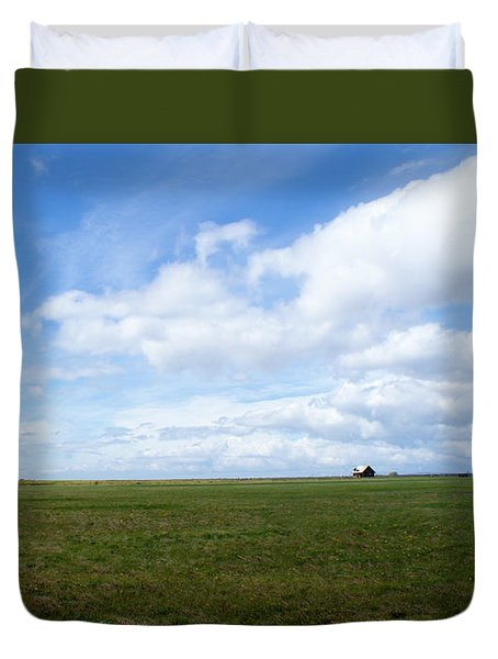 Alone In Iceland Duvet Cover