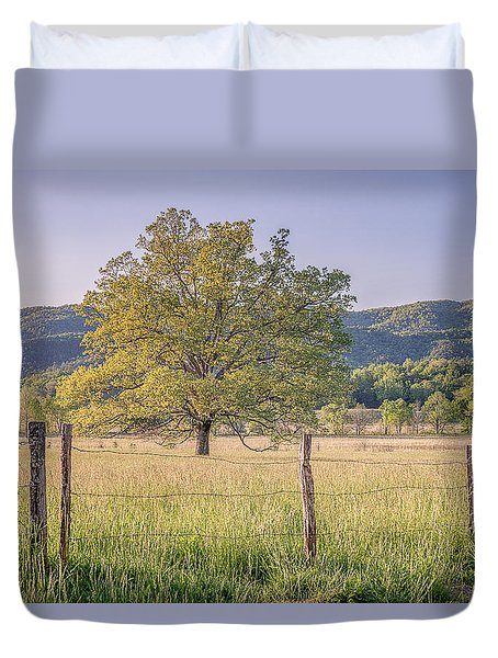 Alone In The Pasture Duvet Cover